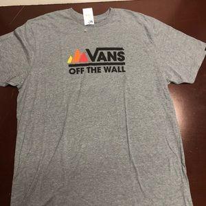 Gray vans off the wall Tshirt XLarge